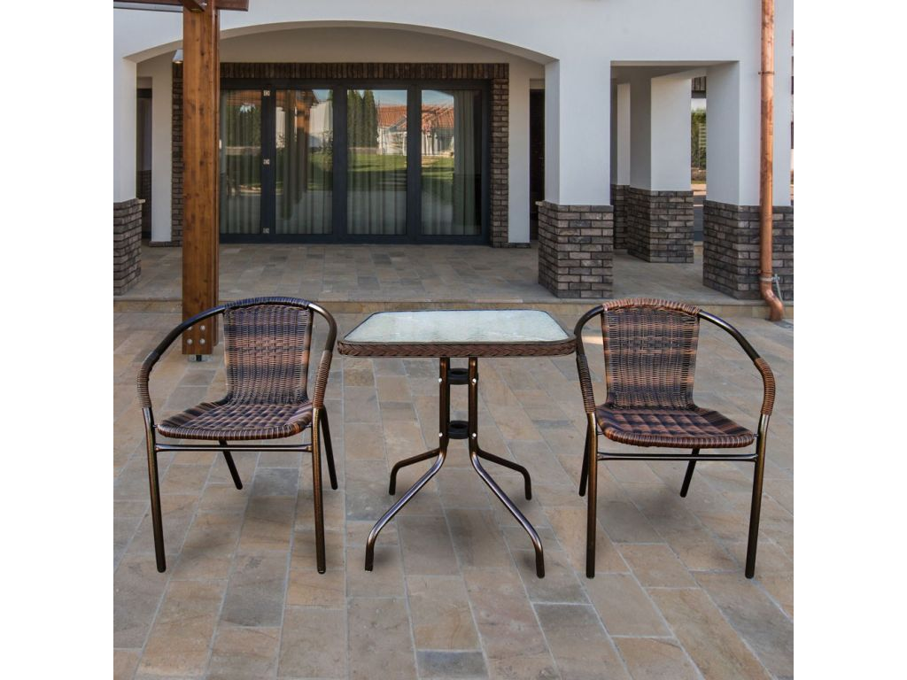 Комплект мебели для балкона из искусственного ротанга асоль-.